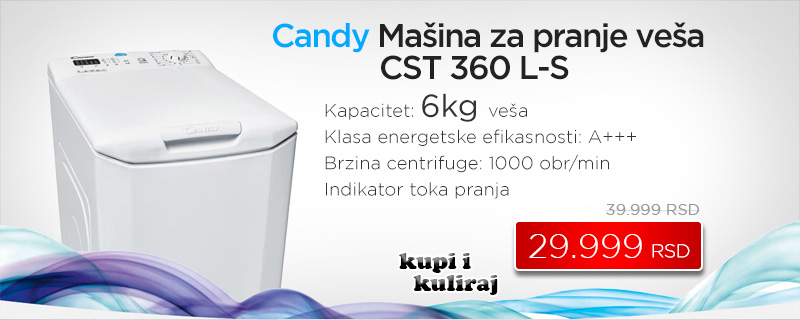 Candy mašina za pranje veša Vita Smart CVST G382 DM - Cool Shop