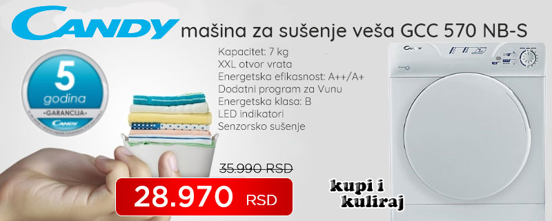 Candy mašina za sušenje veša GCC 570 NB-S - Cool Shop