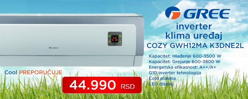 Gree inverter klima uređaj COZY - Cool Shop