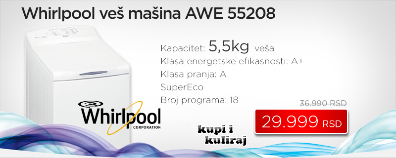 Whirlpool veš mašina AWE 55208 - Cool Shop