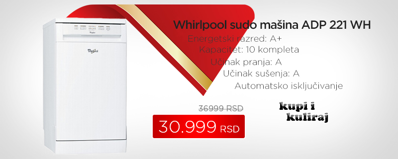 Whirlpool sudo mašina ADP 221 WH - Cool Shop