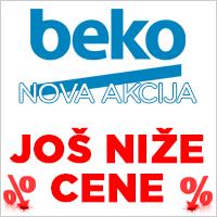 Beko akcija - još niže cene - bela tehnika marke Beko na popustu