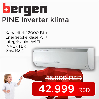 Bergen klima uređaj Pine best buy inverter BER12RA-G17 WiFi - Cool Shop