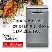 Candy mašina za pranje sudova CDP 2L949X - Cool Shop